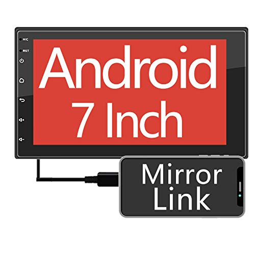 ZHNN 7 inch Android 9.1 Car Stereo Radio/Indash Touchscreen Double Din Head Unit/GPS Navigation Receiver/Bluetooth/Mirror Link/Support Backup Camera/FM/USB (16GB)