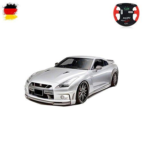 HSP Himoto Nissan GT-R - RC Mini 1/43 Maßstab Lizenzauto, ferngesteuertes Fahrzeug, Auto, Car, Modellbau, Akku integriert, Fernsteuerung mit Ladefunktion, Neu OVP