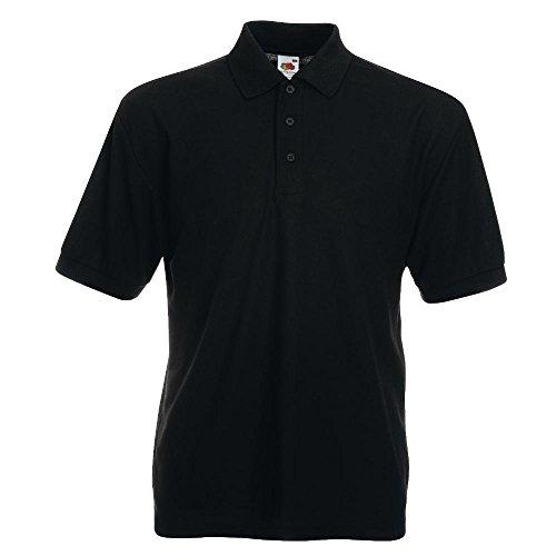 Polo-Shirt * 65/35 Polo * Fruit of the Loom * M * Schwarz Schwarz,M