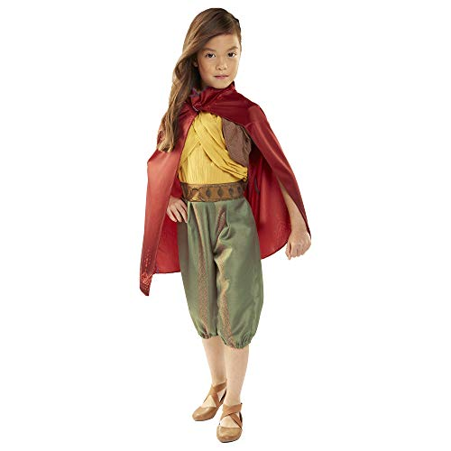 Disney Raya Warrior Costume Outfit with Cape for Girls Size 4-6X [Amazon Exclusive]