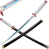 wooden Japanese anime samurai sword, Demon Slayer-Tomioka Giyuu's samurai sword, long wooden sword 39 inches