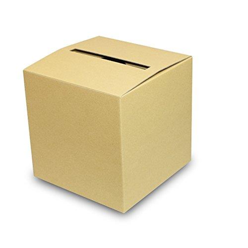 アンケートボックス【クラフト】 100枚セット (アンケート回収箱 投票箱 回収BOX ダンボール 段ボール 紙箱)