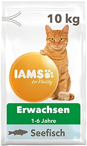 IAMS for Vitality Katzenfutter trocken mit Fisch - Trockenfutter für Katzen im Alter von 1-6 Jahren, 10 kg