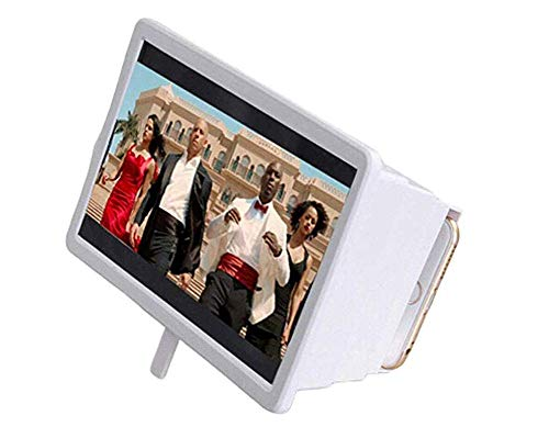 Telefoon Scherm Vergrootglas Draagbare 3D Video Vergroot Smartphone Scherm Vergrootglas Universeel (Wit, 18 * 15 * 4cm)