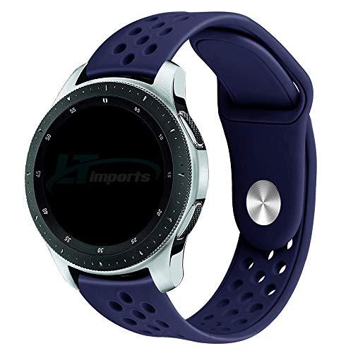 Pulseira Sport Total 22mm compatível com Samsung Galaxy Watch 3 45mm - Galaxy Watch 46mm - Gear S3 Frontier - Amazfit GTR 47mm - Huawei Watch GT 2 46mm - Marca LTIMPORTS (Azul)
