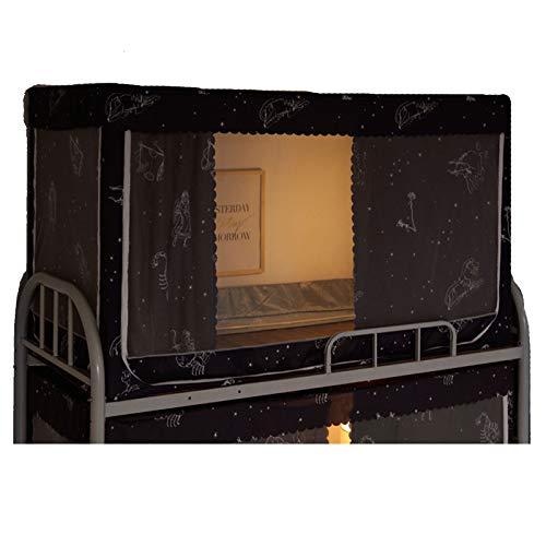 Cortinas De Cama Cortinas De Cama Estilo Tienda De Campaña Buena Permeabilidad Al Aire Cortinas De Cama Plegables En Tres Lados Adecuadas para Uso En Dormitorios,0.9 m up