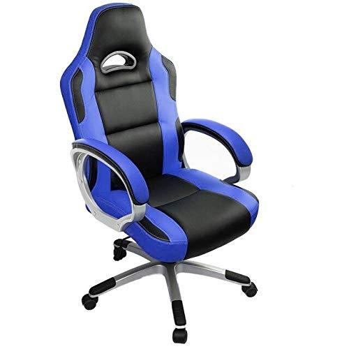 Silla para computadora para Juegos Sillas de Escritorio giratorias ergonomicas para PC de Oficina para Jugadores Adultos y ninos con Brazos, Azul Cielo