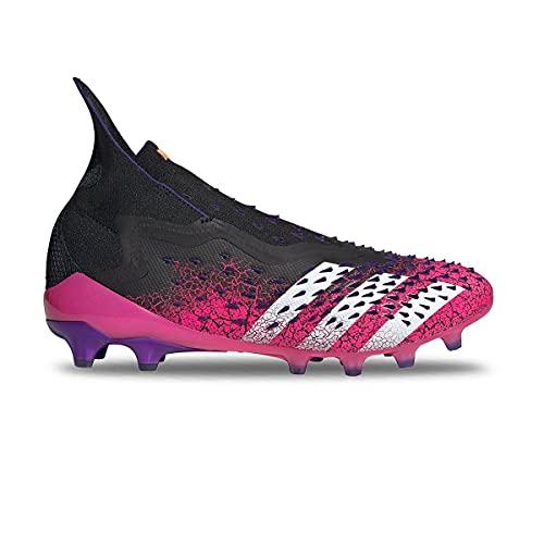 adidas Predator Freak + AG, Zapatillas de ftbol Hombre, Core Black FTWR White Shock Pink, 43 1/3 EU