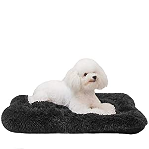 HACHIKITTY Calming Dog Bed Crate Pads, Dog Crate Bed Large Dogs, Dog Crate Mats Machine Washable