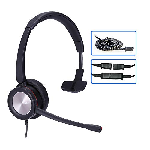 MKJ Office Headset for Cisco Phones Corded RJ9 Telephone Headset with Noise Cancelling Microphone for Cisco CP-7821 7841 6945 7941G 7942G 7945G 7962G 7965G 7970 7971G 7975G 8841 8865 8851 9975 etc
