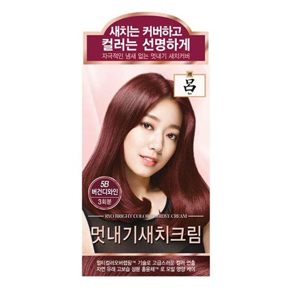 必要条件トーン蓮アモーレパシフィック呂[AMOREPACIFIC/Ryo] ブライトカラーヘアダイクリーム 5B ブルゴーニュワイン/Bright Color Hairdye Cream 5B Burgundy Wine
