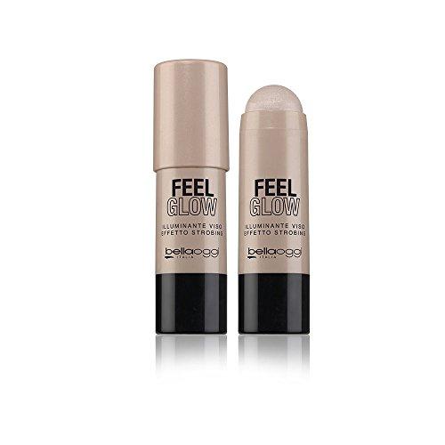 Bellaoggi Feel Glow - Iluminador para el rostro y el cuerpo, color champán, 30 g