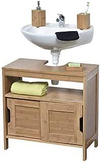 EVIDECO 9900195 Non Pedestal Bath Vanity Cabinet Mahe, Bamboo