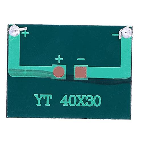 Mini paneles solares, módulo de panel solar, placa solar de 0,15 W, 3 V, portátil, 40x30mm, polisilicio para cargador de juguetes ligeros