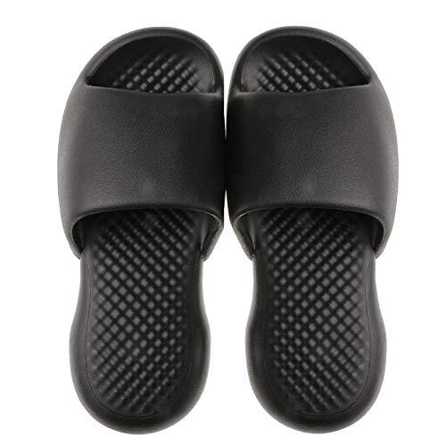 B/H PiscinaNiñaChanclas,Zapatillasdeplásticodesuelablandaparainteriores,sandaliasdebañoparaelhogar-Negro_44-45,PiscinaAntideslizantesFlipFlops