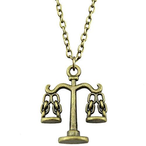 WYSIWYG 3 Piezas Cadena De Metal Collares Colgantes Collar Colgante De Las Mujeres Balanza Balanceada 22x17mm