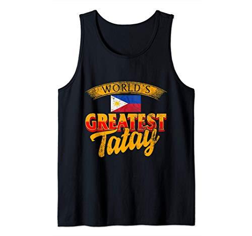 Filipino Dad World's Greatest Tatay Fathers Day Flag Grandpa Tank Top