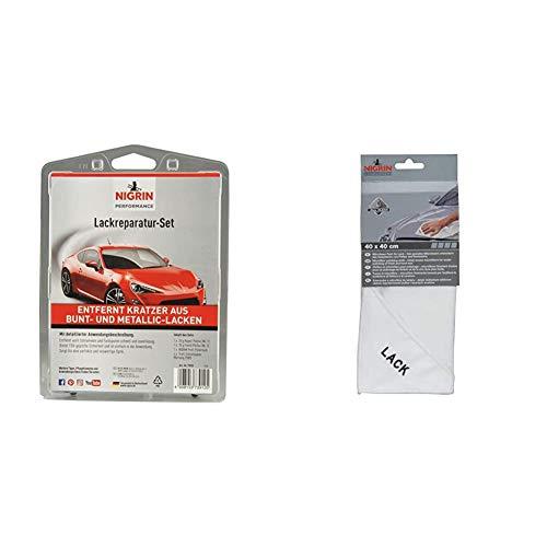 Nigrin 73912 RepairTec Lackreparatur-Set & 71121 Microfasertuch Lack 40 x 40 cm