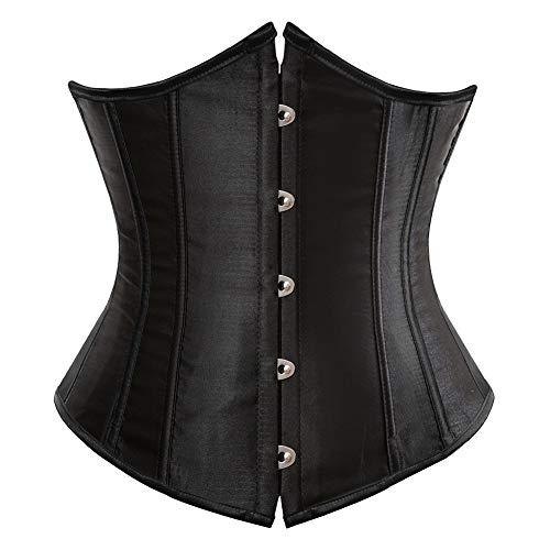 GuliriFe Corsé de látex para mujer, entrenador de cintura, deportivo, para debajo del pecho, abdomen, pérdida de peso Negro XL(Talla: 72 cm, H¨¹ften: 94 cm)