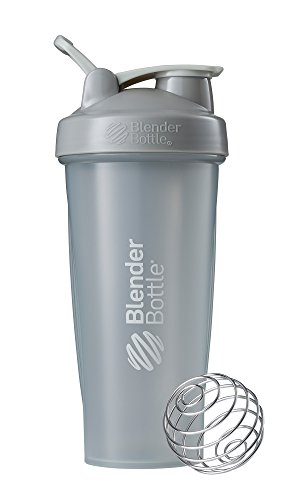 BlenderBottle Classic Shaker Bottle Perfect for Protein Shakes and Pre Workout, 28-Ounce, Pebble Grey