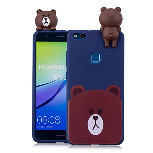 LAXIN Case for Huawei P10 Lite, 3D Design Premium TPU Soft Silicone Gel Case with Cute Bear Pattern Flexible Protective Skin Cover for Huawei P10 Lite