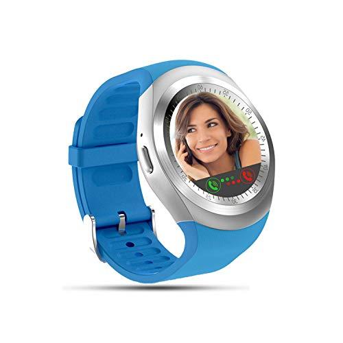 Tipmant Reloj Inteligente Mujer Hombre SN05 Smartwatch Pantalla táctil con Ranura para Tarjeta SIM Podómetro Moviles Baratos y Buenos Pulsera de Actividad para Android Xiaomi Samsung Huawei (Azul)