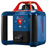 Bosch REVOLVE900 GRL900-20HVK Exterior 1000ft Range Horizontal/Vertical Self-Leveling Cordless Rotary Laser Kit with Tripod, 8ft Grade Rod and Laser Receiver