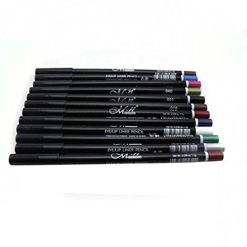 Nourich Lot de 12pcs Multicolore Crayon Eye-liner,Imperméable Coloré Non Blooming Eye Liner Pencil Pen Longue Durée Eye Liner à Teint Pigmentés Stylo Eye Liner de Maquillage (01#)
