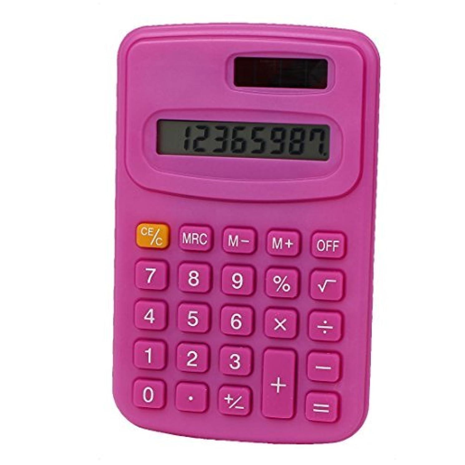 宇宙満員コミットeDealMax Bureau LCD Portable Petit calculatrice de poche électronique Fuchsia