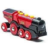 BRIO World 33592 Rote Lola elektrische Lok – Batterie-Lokomotive mit Licht & Sound – Kleinkinderspielzeug empfohlen ab 3 Jahren