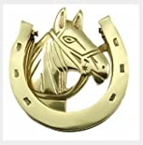 Rousso Reproductions Classic Door Knocker-Equestrian Horseshoe Design- Heavyweight Cast Brass with Premium Polished Brass Finish Includes Mounting Hardware and Instructions for Almost Any Door