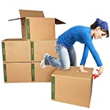 Large Moving Boxes Pack of 6 with Handles – 20'x20'x15'