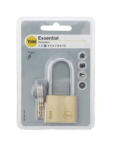 Yale YE1/40/140/1/B Candado de Seguridad de Arco Largo, 40 mm