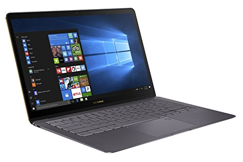 ASUS ZenBook 3 Deluxe UX490 90NB0EI3-M02020 Ultrabook (35,6 cm, 14 Zoll, Full-HD, Intel Core i7-7500U, 16GB RAM, 512GB SSD, Intel HD Graphics, Windows 10 Home) quartz grau