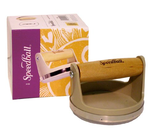 Speedball Block Printing Baren - Comfortable Wooden Handle, Made in the USA - 4 Inches
