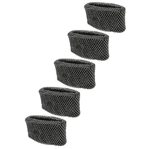 vhbw 5x filtri compatibile con Philips HU4813, HU4813/10, HU4814/10 umidificatori, purificatori d'aria - In spunlace, grigio