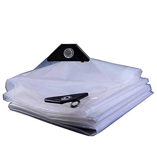 GXYTT Cubierta de plástico transparente resistente a la lluvia, aislamiento frío para flores, lona de invernadero, lona para exteriores, transparente, 1 m x 2 m x 3,3 pies