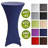 Beautissu Tovaglia rivestimento elastico per tavoli da bar & cocktail Stella Ø70-75cm - f...