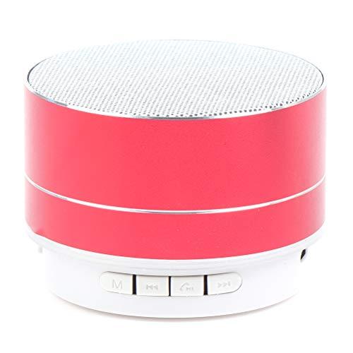 Mini altavoz Bluetooth luminoso aleación de aluminio tarjeta inalámbrica mini A10 Bluetooth altavoz música subwoofer portátil LED altavoz inteligente teléfono