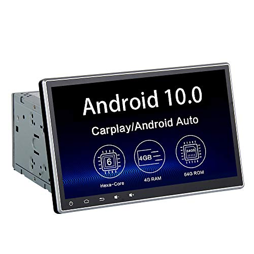 """Dasaita 10.2"""" Android 10.0 Universal Double Din Car Radio bluetooth 5.0 Audio Stereo Head Unit GPS Navigation Multimedia Video Player Touchscreen Hexa Core 4G 64G DSP Android Auto Wireless Carplay PX6"""