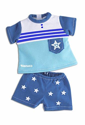 Nenuco Ropita Casual 35cm. Camiseta y pantalón azul con estrellitas (Famosa) (700013822)