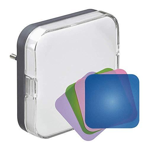Legrand 050673 Veilleuse à LED avec Détecteur Crépusculaire Livrée et 4 Étiquettes de Couleur Unie et 1 Papier Personnalisable, Blanc