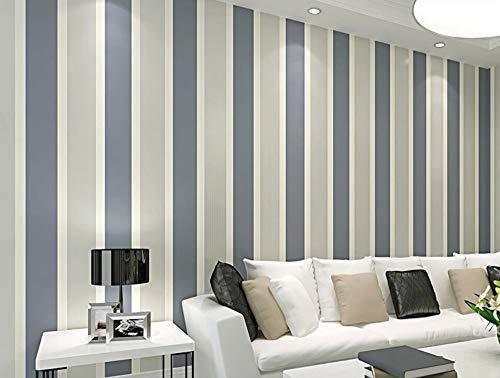 Tapete Streifen Grau Vliestapete Gestreift Vertikalen Linien Moderne Mittelmeer für Wohnzimmer Schlafzimmer Flur Fernsehhintergrund Hotel - Grau