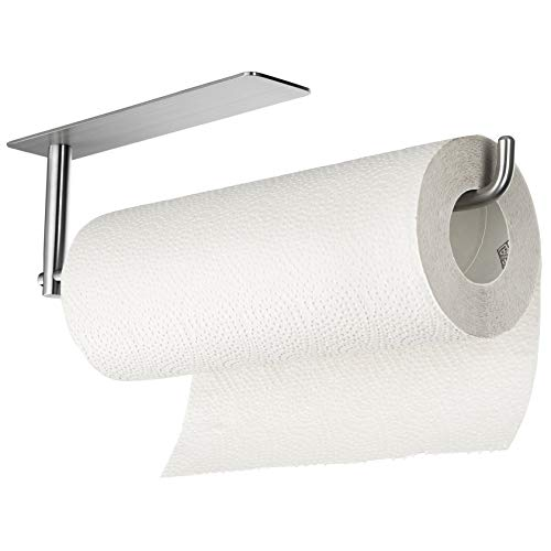 commercial SUNTECH Paper Towel Holders Under the Kitchen Cupboard – Sticky Paper Towel Holders Above… paper towel holders
