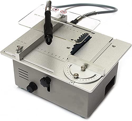 LXNQG Mini Mini Mini Sierra de Mesa de carpintería, Sierra eléctrica de...