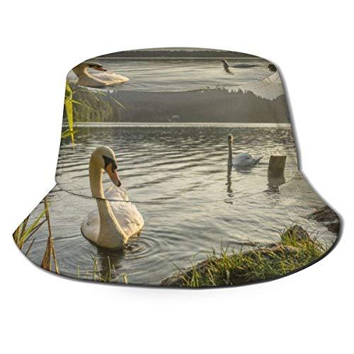 Yearinspace Sombrero de sol unisex con ala ancha y protección solar al aire libre para caminar con gorras de pescador, España Parques Trail Trees Urkiola País Vasco Naturaleza