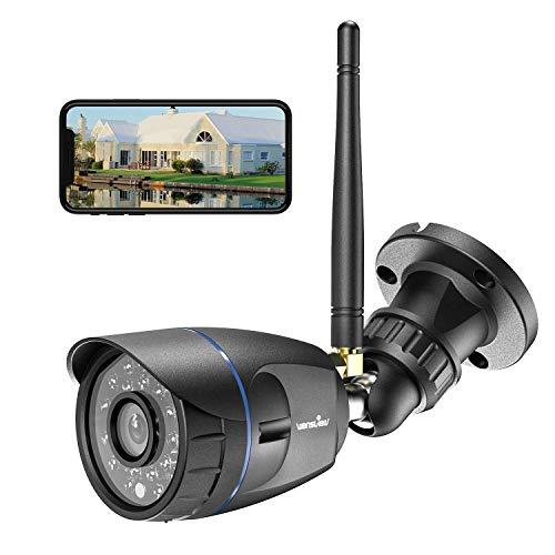 Wansview - Telecamera di sorveglianza WiFi esterna, telecamera di sicurezza W4 nero