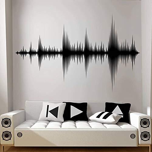 AKmene Pegatinas de Pared Estudio de grabación Sonic productor de música decoración de la habitación Papel Tapiz del Dormitorio 90X57cm