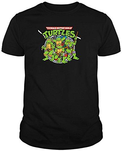 The Fan Tee Camiseta de Hombre Tortugas Ninja Retro Dibujos Animados L