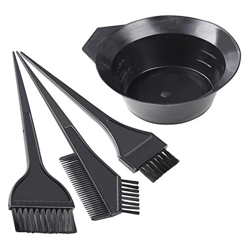 TRIXES 4-teiliges Profi DIY Haar Färbe Set zum Mischen und zur Anwendung von Haarfärbemittel